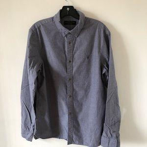 Men's All Saints Button Down Shirt Size Medium